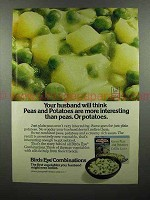 1975 Birds Eye Green Peas and Potatoes Ad