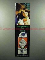 1975 Tabasco Bloody Mary Mix Ad - Summer Party Fun