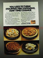 1976 Stouffer's Frozen Dinner Ad - How Times Change