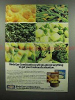 1977 Birds Eye Combination Vegetable Ad - Get Husbands Attention