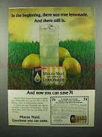 1978 Minute Maid Lemonade Ad - in the Beginning