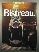 1982 Perrier Mineral Water Ad - Bistreau