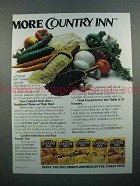 1986 Uncle Ben's Country Inn Rice Ad