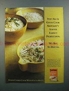 1996 Uncle Ben's Rice Ad - Good Cook Expect Perfection
