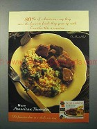 1997 Stouffer's Lean Cuisine Oven Roasted Beef Ad