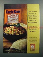 1997 Uncle Ben's Red Beans & Rice Ad - Authentic