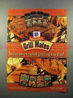 1999 McCormick Grill Mates Spices Ad - Grilling