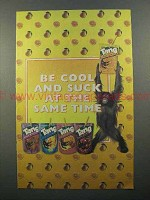2001 Tang Drink Pouches Ad - Be Cool And Suck