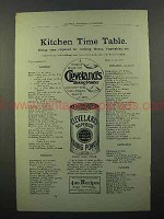 1894 Cleveland's Superior Baking Powder Ad - Time Table