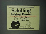 1936 Schilling Baking Powder Ad - Finer Baking
