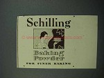 1936 Schilling Baking Powder Ad - For Finer Baking