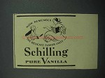 1937 Schilling Pure Vanilla Ad - Now Remember Flavor