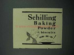 1937 Schilling Baking Powder Ad - Biscuits Um-m-m!