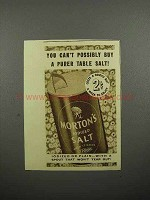 1937 Morton's Iodized Salt Ad - Purer Table Salt