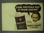 1938 Morton's Iodized Salt Ad - Cube Crystals