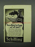 1939 Schilling Vanilla Ad - Home-Made Ice Cream