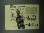 1940 Schilling Vanilla Ad - From Tropic Lands