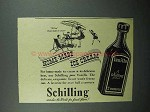 1940 Schilling Vanilla Ad - Home-Made Ice Cream