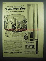 1941 Sperry Drifted Snow Flour Ad - Perfect Angel Cake