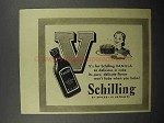 1941 Schilling Vanilla Ad - So Delicious in Cake