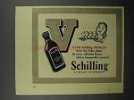 1941 Schilling Vanilla Ad - Hear the Folks Cheer