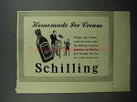1942 Schilling Vanilla Ad - Homemade Ice Cream