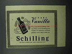 1942 Schilling Pure Vanilla Ad - Custards, Puddings