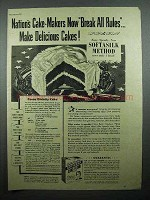1943 Betty Crocker Softasilk Cake Flour Ad - Cocoa Cake