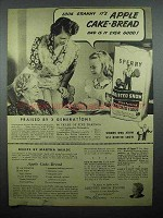 1943 Sperry Drifted Snow Flour Ad - Apple Cake-Bread