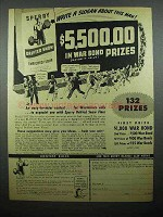 1944 Sperry Drifted Snow Flour Ad - $5,5500 in War Bond Prizes