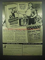 1944 Sperry Drifted Snow Flour Ad - War Bond Prizes