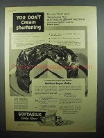 1944 Betty Crocker Softasilk Flour Ad Golden Layer Cake