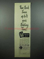1946 Pillsbury Best Ad - Book Saves 1/2 Baking Time