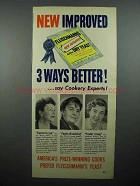 1950 Fleischmann's Dry Yeast Ad - 3 Ways Better