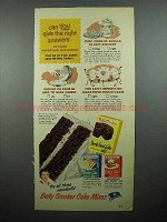 1952 Betty Crocker Devil's Food Cake Mix Ad