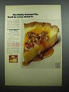 1969 Jell-o Golden Egg Custard Ad - Nutty Pie