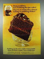 1978 Duncan Hines Pudding Recipe Cake Mix Ad