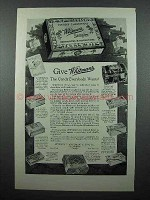 1926 Whitman's Sampler Chocolate Ad - Give Whitman's
