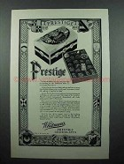 1928 Whitman's Prestige Chocolates Ad