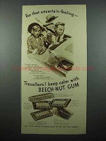 1936 Beech-Nut Gum Ad - For Uncertain Feeling