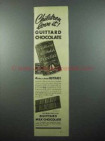 1940 Guittard Chocolate Ad - Children Love It