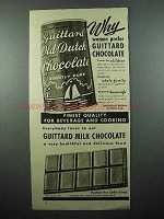 1940 Guittard Chocolate Ad - Women Prefer