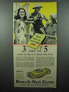 1941 Beech-Nut Gum Ad - 3 out of 5 Lifeguards