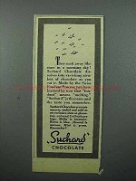 1943 Suchard Chocolate Ad - They Melt Away