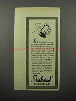 1944 Suchard Chocolate Ad - Silk is Rough by Comparison