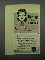 1944 Guittard Chocolate Ad - Best Hot Chocolate