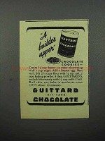 1944 Guittard Chocolate Ad - Chocolate Cookies
