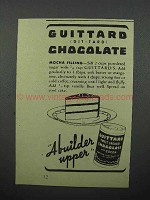 1944 Guittard Chocolate Ad - Mocha Filling