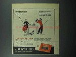 1947 Rockwood's Chocolate Bits Ad - One Double Milk