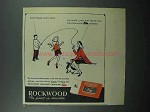 1947 Rockwood's Chocolate Bits Ad - Jump Rope